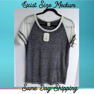 Exist Women's Shirt Stormy Gray Medium Sleeveless